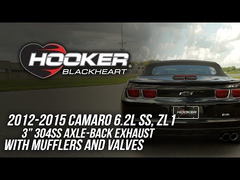 "2012-2015 Camaro 6.2L SS, ZL1 3"" 304ss Axle-Back Exhaust With Mufflers And Valves"