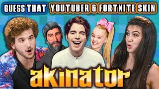 Guess That YouTuber And Fortnite Skin - Akinator #2 (React: Gaming)