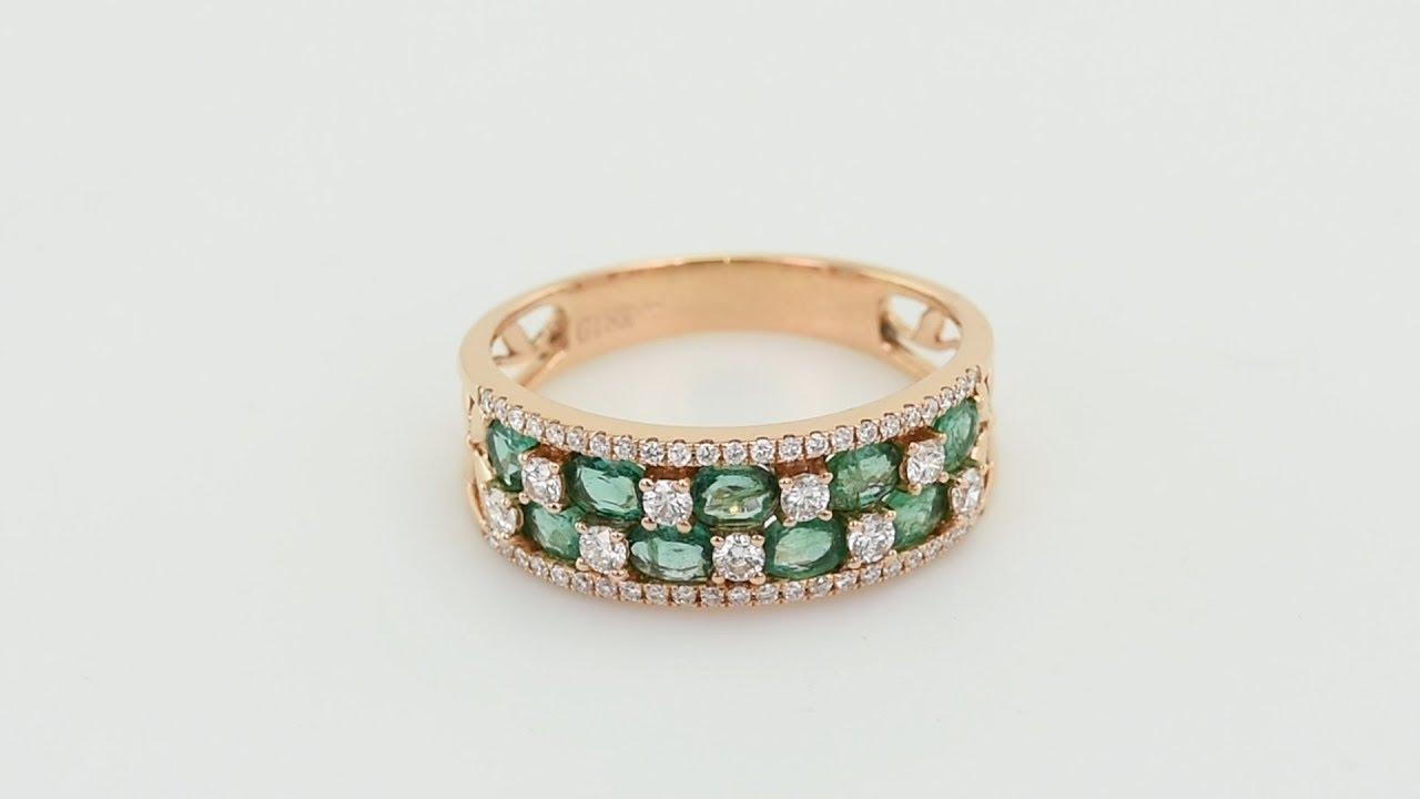 8a48b005290 Zlatý prsten plný smaragdů a diamantů Luana - Eppi - thsiam.com