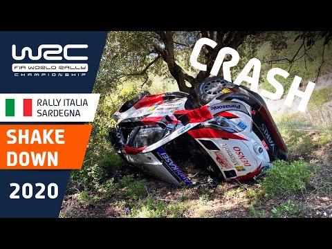 WRC ラリー・イタリア・サルディニア シェイクダウンの様子を収めたライブ配信動画