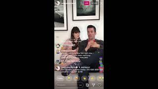 ZOOEY DESCHANEL (JESS ON NEW GIRL)& JONATHAN SCOTT  (PROPERTY BROTHERS) Instagram Live PART 1 24-05