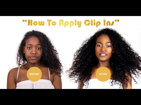 How To Properly Apply Clipin Hair Extensions- ONYC Hair Tutorial