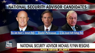 Petraeus and Harward on short list to replace Michael Flynn as National Security Advisor