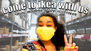 Come To IKEA With Us + Home Office Mini Modern Makeover !! ClaireQUTE