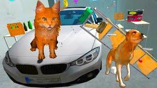 Играем в СИМУЛЯТОР КОТА #6 мульт-игра про котят развлекательное видео для детей