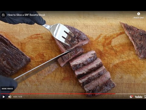 How to Slice an SRF Bavette Steak