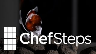 Fat Flare Up on Charcoal • High Speed Video • 5000 FPS