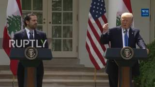USA: President Trump holds press conference with Lebanese PM Saad Hariri
