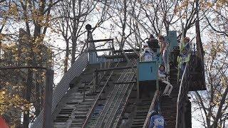 UTV. В Уфе круглый год лыжники занимаются прыжками с трамплина