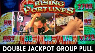 DOUBLE JACKPOT Group Slot Pull 💰 $4600 / 23 Person 💰 Seven Feathers Casino #ad