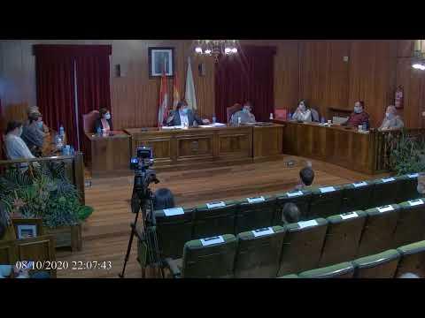 Pleno del Ayuntamiento de Almazán (08-10-2020).