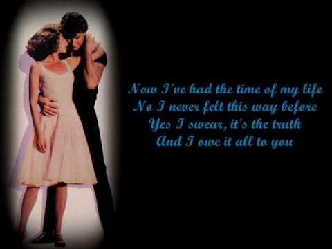Bill Medley & Jennifer Warnes- (I've Had) The Time Of My Life Lyrics