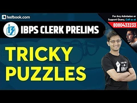Tricky Puzzle Reasoning Questions for IBPS Clerk Prelims 2019   IBPS Clerk Reasoning by Sachin Sir