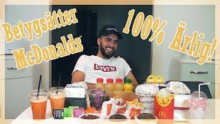 Testar McDonalds meny - 100% ÄRLIG MUKBANG