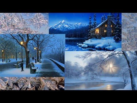 Время года ЗИМА   Зимние пейзажи в картинах художников / Season Winter ~ Richard Wagner / HD