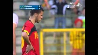 Eden Hazard marque et  éblouit le nouveau coach Belge