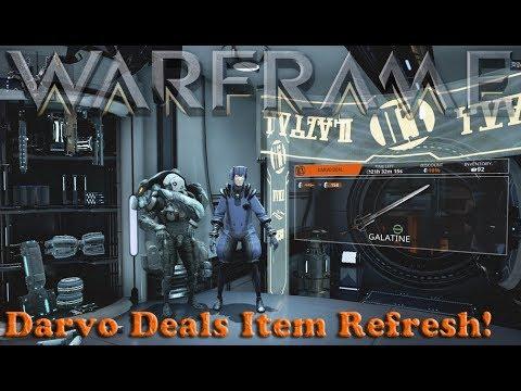Warframe - Darvo Deals Item Refresh, Finally!