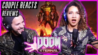 """COUPLE REACTS - DOOM Eternal """"The Only Thing They Fear Is You"""" (Mick Gordon) - REACTION / REVIEW"""