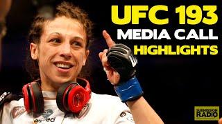 UFC 193 Conference Call HIGHLIGHTS: Holly Holm, Joanna Jedrzejczyk, Valerie Letourneau