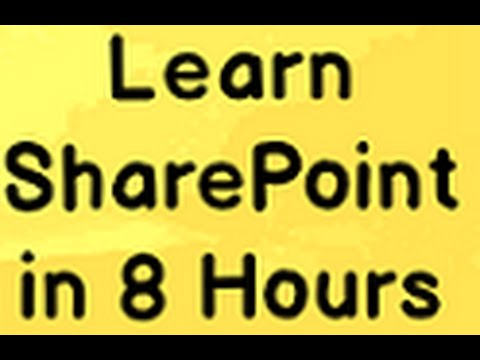 Learn Sharepoint Step by Step ( Sharepoint tutorial) - YouTube