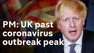 "UK is ""past the peak"" says Boris Johnson 