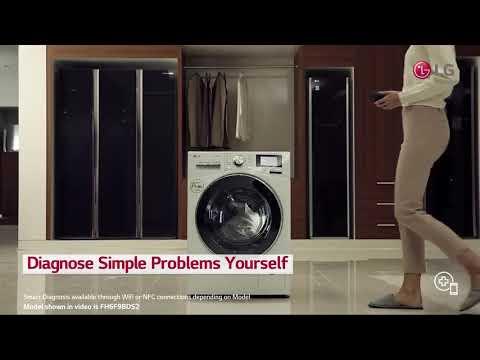 LG Freestanding Washing Machine F4MT08WE - White Video 2