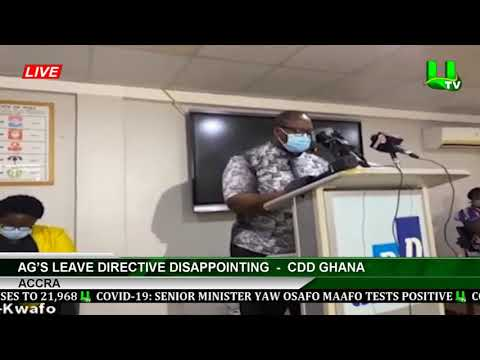 AG's Leave Directive Disappointing  -   CDD Ghana