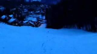 Jonathan Sledding - going downhill, fast !