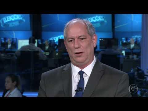 Ciro Gomes (PDT) é entrevistado no Jornal Nacional