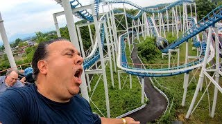 Riding a Weird & Screwed Up Roller Coaster in Japan! Jet Corster At Lina World! リナワールド - ジェットコースター