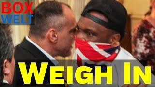 Bulgarian fan hits Dereck Chisora in the face during weigh in - 06.05.2016