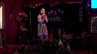 Briana singing You'll Never Stand Alone