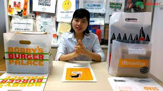 Matte Clear Plastic Bags With Die Cut Handles youtube video
