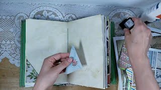 Decorating the Inside of the Kate Greenaway Junk Journal
