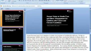 Parents' Roles in Health Care and Illness Management for Children with Cancer and Chronic Conditions