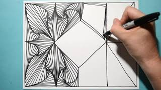 Most Satisfying & Amazing Drawing Pattern / Daily Art Therapy / Day #035