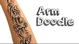 Arm Doodle Using Face Paint