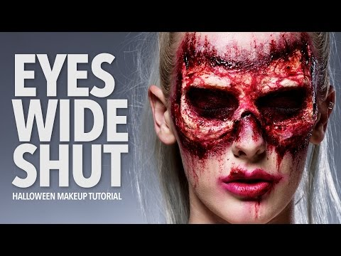 Eyes Wide Shut Halloween Makeup Tutorial