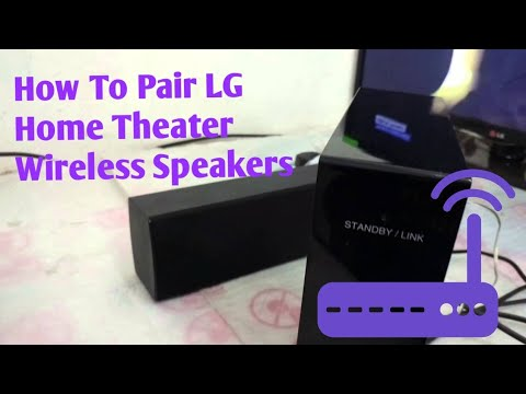 How To Pair LG Wireless speakers to any Home theater