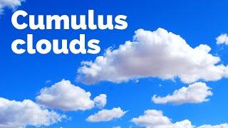 How do cumulus clouds form?