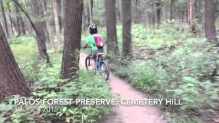 My son riding on the Cemetery Hill connector.