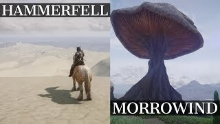 Reunited Tamriel: Morrowind and Hammerfell WIP | New MASSIVE Skyrim Mod! | Gameplay