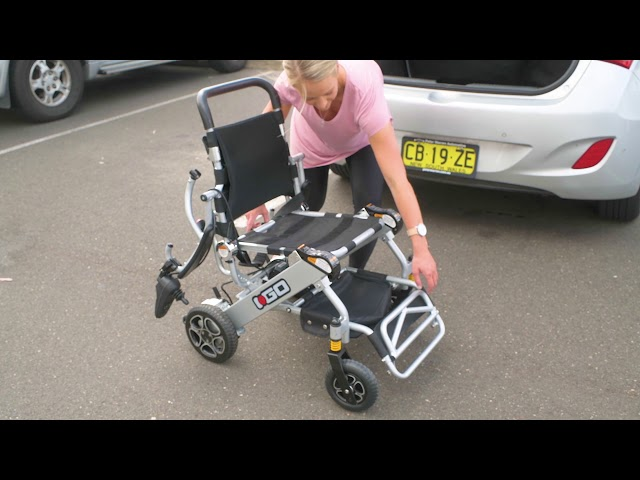 i Go Folding Electric Wheelchair Video
