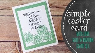 Simple Easter Card Using What I Love From Stampin Up