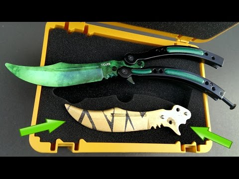 REAL CSGO Butterfly knife in a chest box Review