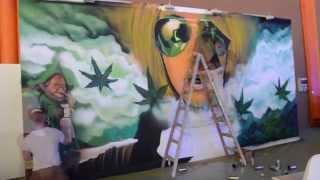Arte Ubano en Málaga en feria del Cannabis 2015