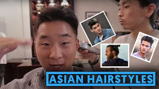 ASIAN HAIRSTYLES FOR GUYS - Pompadour, Quiff & Man Bun | Fung Bros