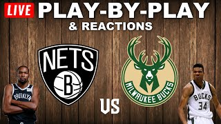 Brooklyn Nets vs Milwaukee Bucks   Live Play-By-Play & Reactions