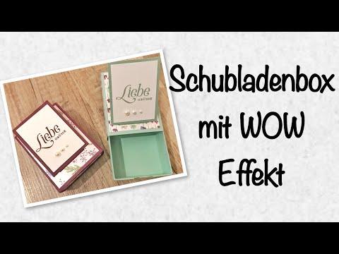 Schubladenbox mit WOW Effekt - gewerkelt mit Produkten von Stampin´Up!