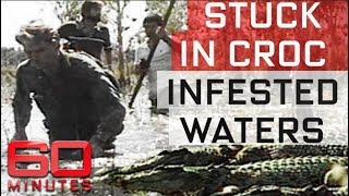 TV crew stuck in croc infested waters | 60 Minutes Australia